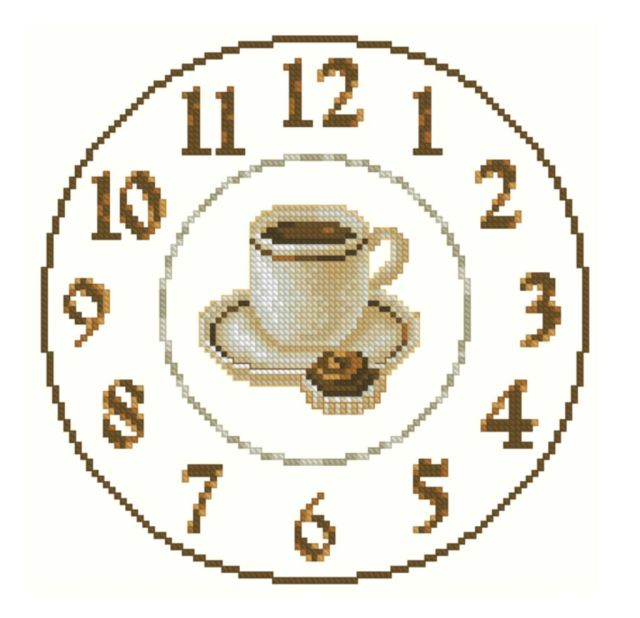 Вышивка схемы для кухни часы 47