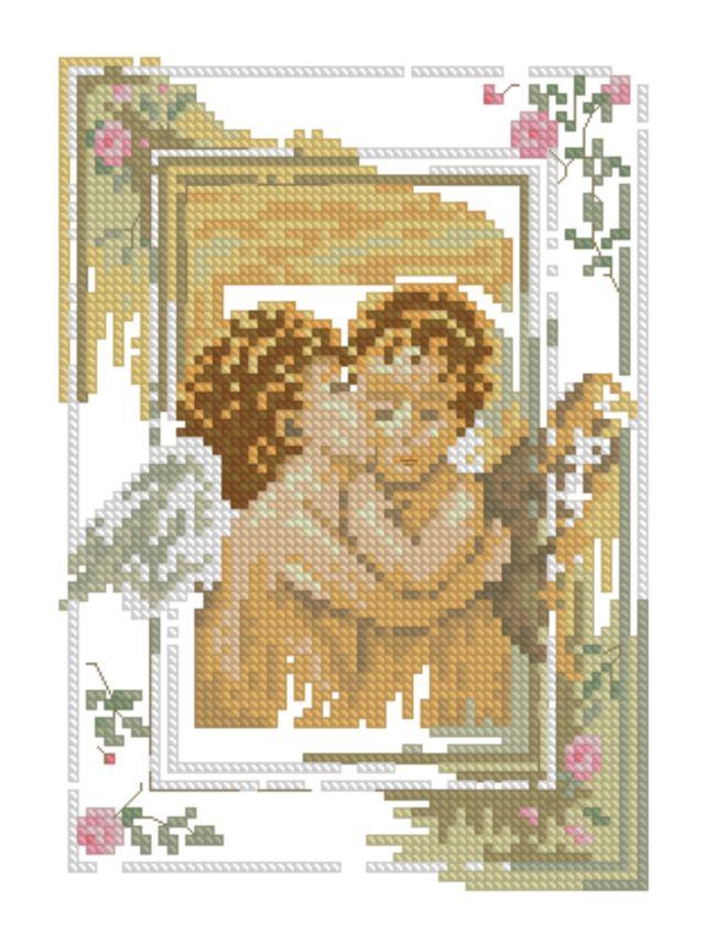 Вышивка поцелуй ангелов 30