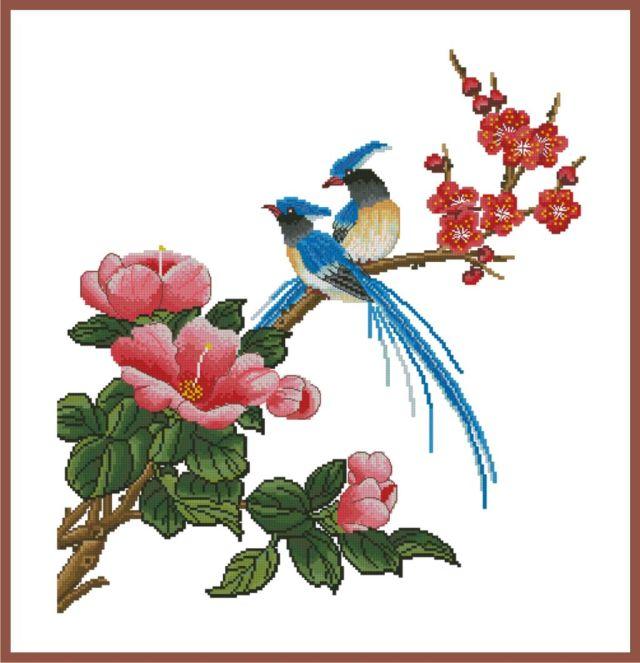 Схема вышивки райские птицы в