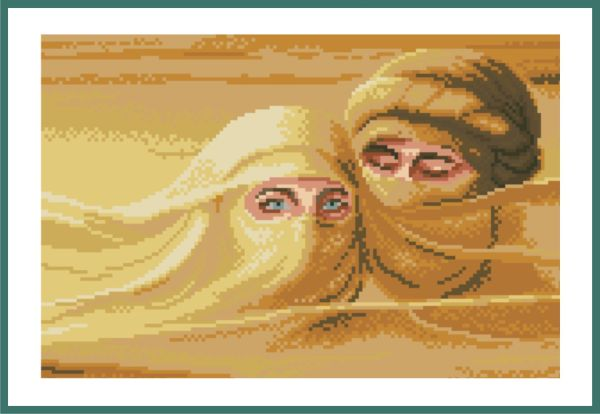 Схема для вышивания глаза в глаза