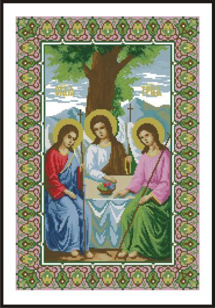 Икона пресвятой троицы вышивка
